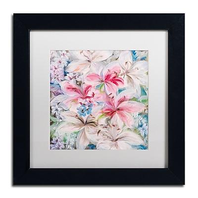 Trademark Fine Art Li Bo 'Lily Patch' 11 x 11 (ALI0759-B1111MF)