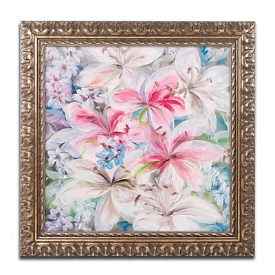 Trademark Fine Art Li Bo 'Lily Patch' 16 x 16 (ALI0759-G1616F)