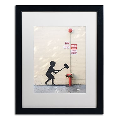 Trademark Fine Art Banksy 'Better Out Than In' 16 x 20 (ALI0800-B1620MF)