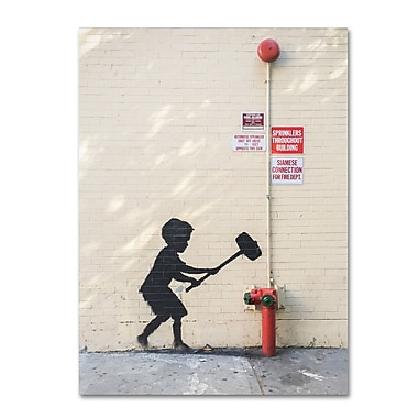 Trademark Fine Art Banksy 'Better Out Than In' 24 x 32 (ALI0800-C2432GG)