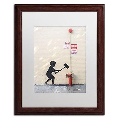 Trademark Fine Art Banksy 'Better Out Than In' 16 x 20 (ALI0800-W1620MF)