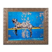 "Trademark Global Banksy 'Bronx Zoo' Ornate Framed Art, 16"" x 20"" (ALI0801-G1620F)"