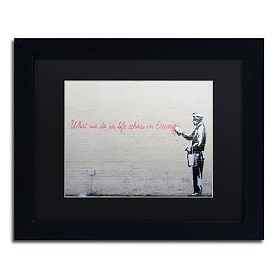 Trademark Fine Art Banksy 'Echoes' 11 x 14 (886511714663)