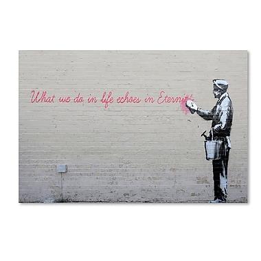 Trademark Fine Art Banksy 'Echoes' 22 x 32 (ALI0803-C2232GG)