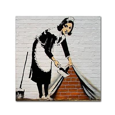 Trademark Fine Art Banksy 'Maid' 18 x 18 (ALI0805-C1818GG)