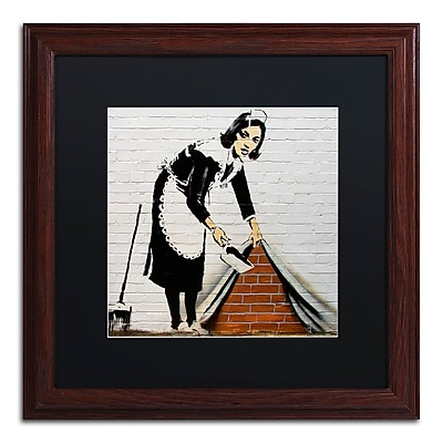 Trademark Fine Art Banksy 'Maid' 16 x 16 (886511715127)