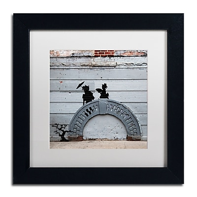 Trademark Fine Art Banksy 'NYC Japanese Bridge' 11 x 11 (ALI0807-B1111MF)