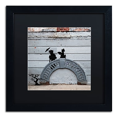 Trademark Fine Art Banksy 'NYC Japanese Bridge' 16 x 16 (886511715301)