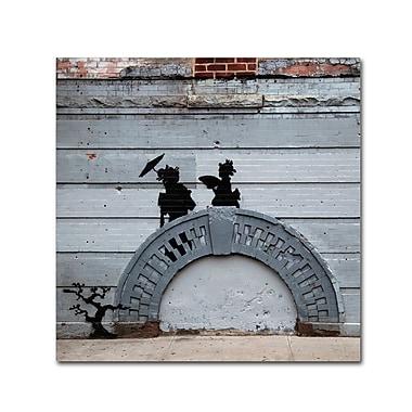 Trademark Fine Art Banksy 'NYC Japanese Bridge' 18 x 18 (ALI0807-C1818GG)