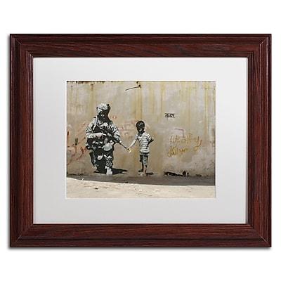 Trademark Fine Art Banksy 'Peace' 11 x 14 (ALI0809-W1114MF)
