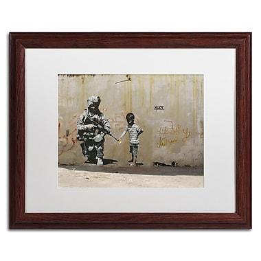 Trademark Fine Art Banksy 'Peace' 16 x 20 (ALI0809-W1620MF)