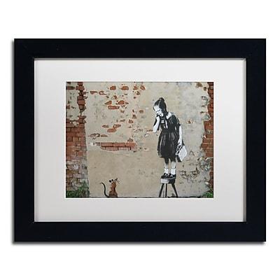 Trademark Fine Art Banksy 'Ratgirl' 11 x 14 (ALI0810-B1114MF)