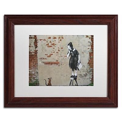 Trademark Fine Art Banksy 'Ratgirl' 11 x 14 (ALI0810-W1114MF)
