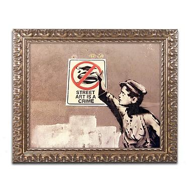 Trademark Global Banksy 'Street Art is a Crime' 16