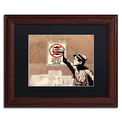 Trademark Fine Art Banksy 'Street Art is a Crime' 11 x 14 (886511716346)