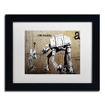 Trademark Fine Art Banksy 'Your Father' 11 x 14 (ALI0816-B1114MF)