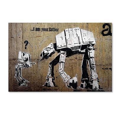 Trademark Fine Art Banksy 'Your Father' 12 x 19 (ALI0816-C1219GG)