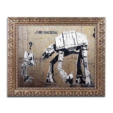 Trademark Fine Art Banksy 'Your Father' 11 x 14 (ALI0816-G1114F)