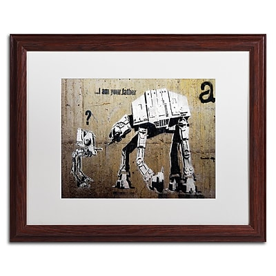 Trademark Fine Art Banksy 'Your Father' 16 x 20 (ALI0816-W1620MF)