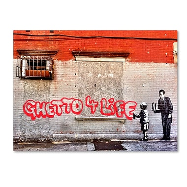 Trademark Fine Art Banksy 'Ghetto For Life' 18 x 24 (ALI0817-C1824GG)
