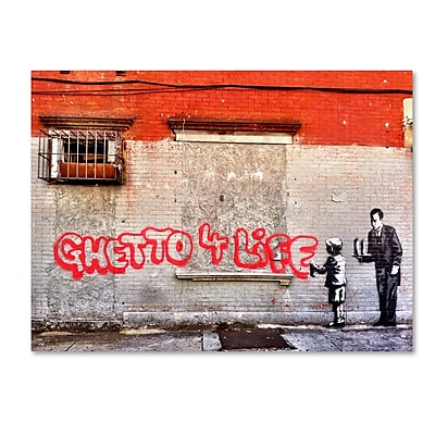 Trademark Fine Art Banksy 'Ghetto For Life' 14 x 19 (ALI0817-C1419GG)