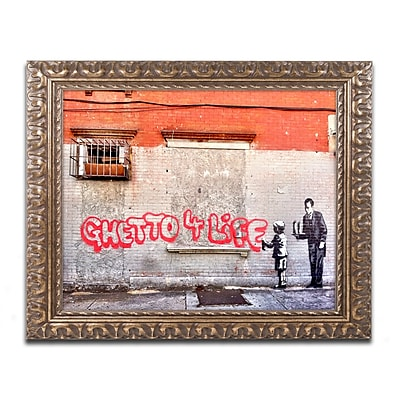 Trademark Global Banksy 'Ghetto for Life' Ornate Art, 16
