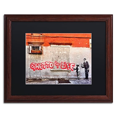 Trademark Fine Art Banksy 'Ghetto For Life' 16 x 20 (886511716988)