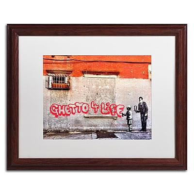 Trademark Fine Art Banksy 'Ghetto For Life' 16 x 20 (ALI0817-W1620MF)