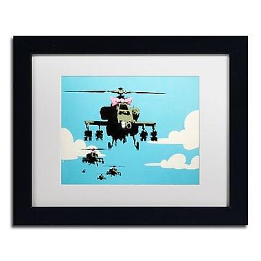 Trademark Fine Art Banksy 'Vapor Helicopter UAV' 11 x 14 (ALI0818-B1114MF)