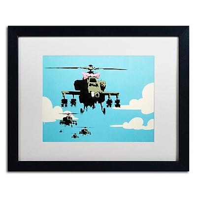 Trademark Fine Art Banksy 'Vapor Helicopter UAV' 16 x 20 (ALI0818-B1620MF)