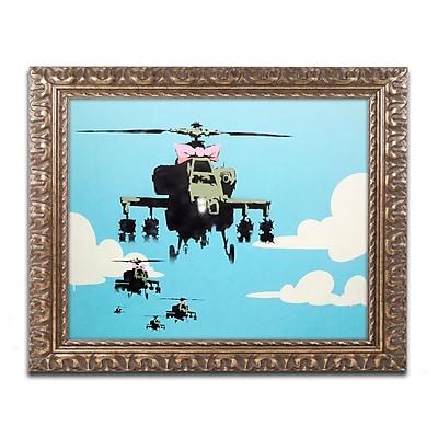 Banksy 'Vapor Helicopter UAV' Ornate Framed Art 16