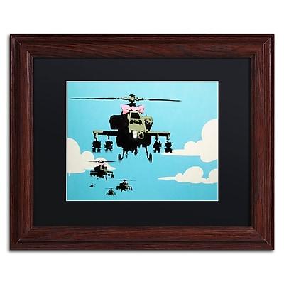 Trademark Fine Art Banksy 'Vapor Helicopter UAV' 11 x 14 (886511717121)