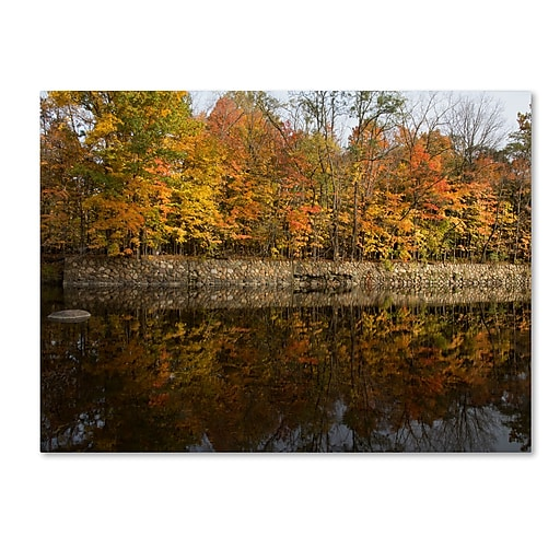 Trademark Fine Art Kurt Shaffer 'Autumn Along the Rocky River'  35 x 47 (KS01017-C3547GG)