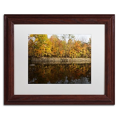 Trademark Fine Art Kurt Shaffer 'Autumn Along the Rocky River' 11 x 14 (KS01017-W1114MF)