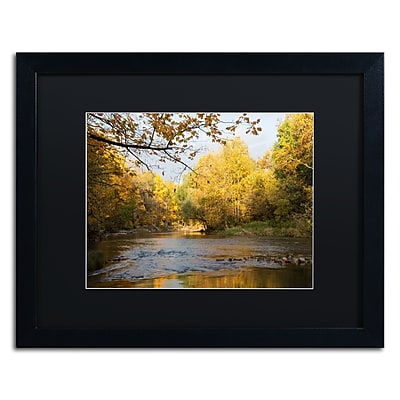 Trademark Fine Art Kurt Shaffer 'Golden Autumn River' 16 x 20 (886511703025)
