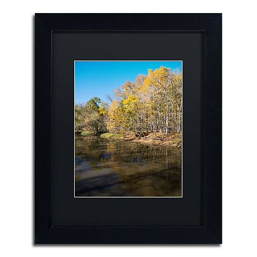 Trademark Fine Art Kurt Shaffer 'Vermilion River Autumn'  11 x 14 (886511704022)
