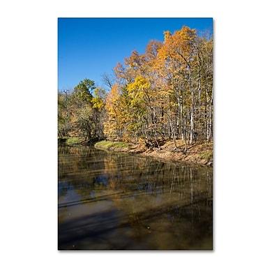 Trademark Fine Art Kurt Shaffer 'Vermilion River Autumn' 30 x 47 (KS01050-C3047GG)