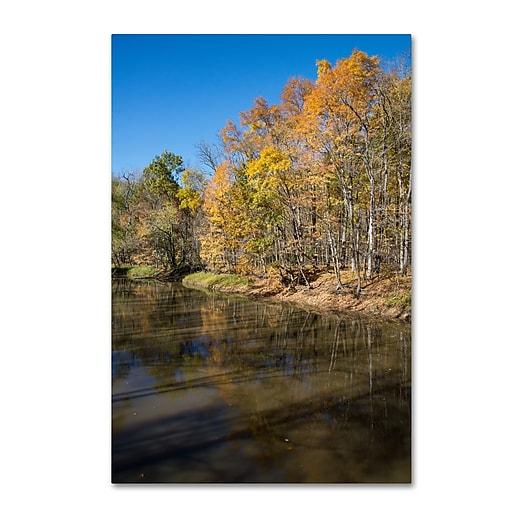 Trademark Fine Art Kurt Shaffer 'Vermilion River Autumn'  16 x 24 (KS01050-C1624GG)
