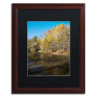 Trademark Fine Art Kurt Shaffer 'Vermilion River Autumn' 16 x 20 (886511704114)
