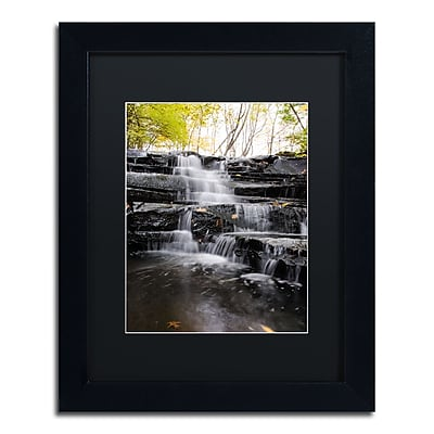 Trademark Fine Art Kurt Shaffer 'Waterfall at Lake View' 11 x 14 (886511704121)