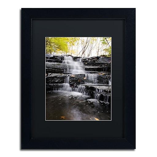Trademark Fine Art Kurt Shaffer 'Waterfall at Lake View'  11 x 14 (886511704121)