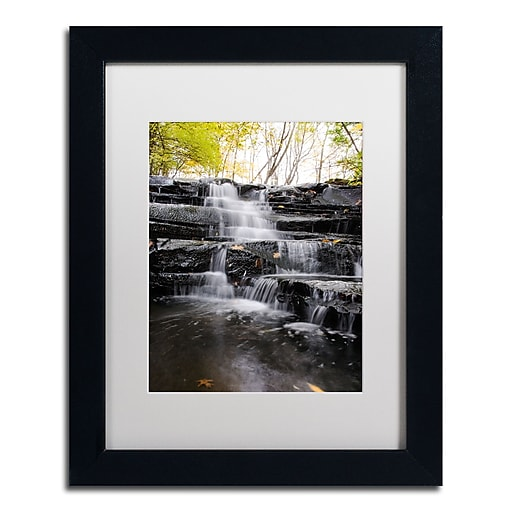 Trademark Fine Art Kurt Shaffer 'Waterfall at Lake View'  11 x 14 (KS01051-B1114MF)
