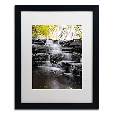 Trademark Fine Art Kurt Shaffer 'Waterfall at Lake View' 16 x 20 (KS01051-B1620MF)