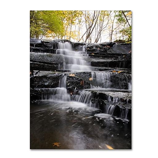 Trademark Fine Art Kurt Shaffer 'Waterfall at Lake View'  24 x 32 (KS01051-C2432GG)