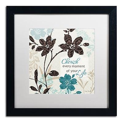 Trademark Fine Art Lisa Audit 'Botanical Touch Quote I' 16 x 16 (WAP0174-B1616MF)