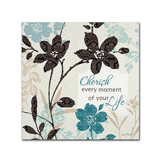 Trademark Fine Art Lisa Audit 'Botanical Touch Quote I'  14 x 14 (WAP0174-C1414GG)