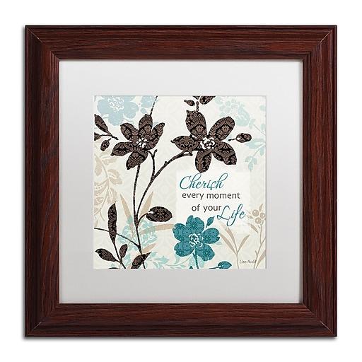 Trademark Fine Art Lisa Audit 'Botanical Touch Quote I'  11 x 11 (WAP0174-W1111MF)