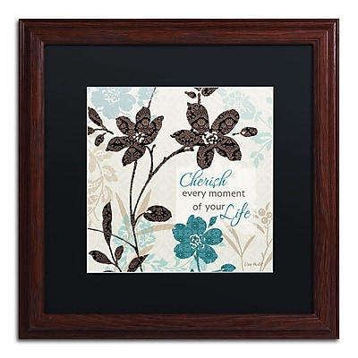 Trademark Fine Art Lisa Audit 'Botanical Touch Quote I' 16 x 16 (886511706255)