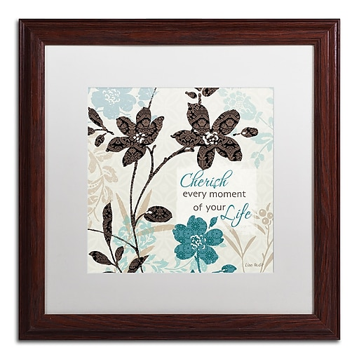 Trademark Fine Art Lisa Audit 'Botanical Touch Quote I'  16 x 16 (WAP0174-W1616MF)