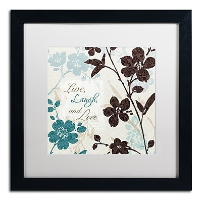 Trademark Fine Art Lisa Audit 'Botanical Touch Quote II' 16 x 16 (WAP0175-B1616MF)